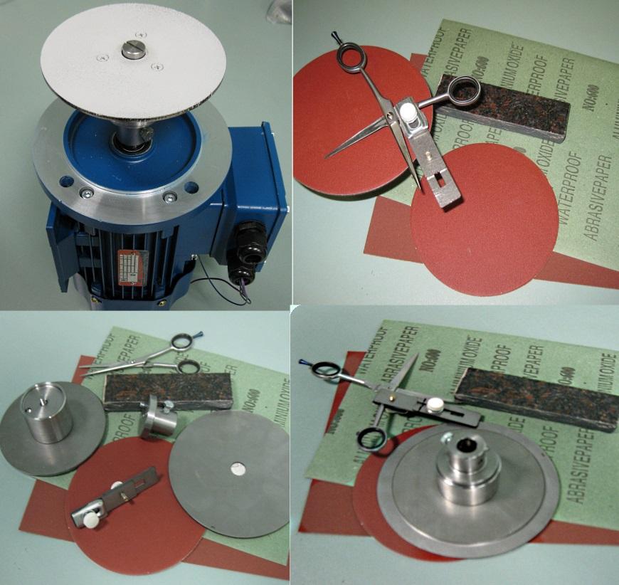 Комплект для заточки ножниц на станке ШМ-36
