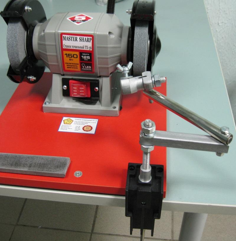 Манипулятор трехколенный для заточки парикмахерских ножниц