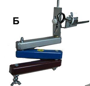 Манипулятор трехколенный с приспособлением для для заточки полотен ножниц изнутри